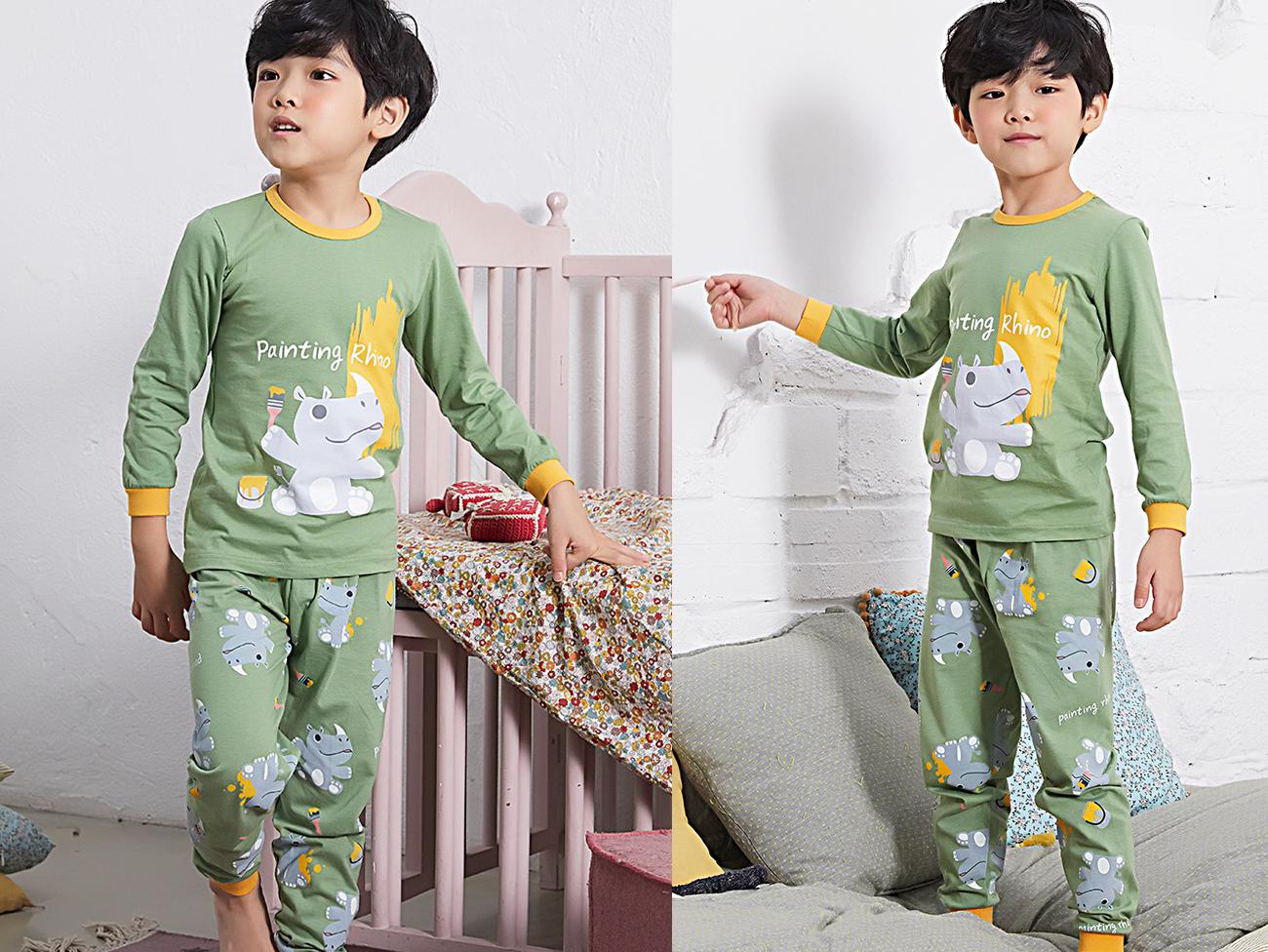Olomimi Painting Rhino Kid Pyjamas