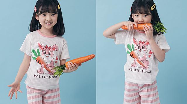 Olomimi My Little Bunny Organic Cotton Kid Pyjamas Set